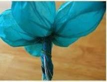 DIY: Flor de papel de seda Paso 6
