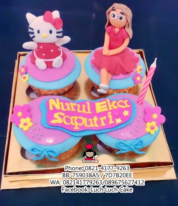 Hello Kitty Ulang Tahun Cupcake Daerah Surabaya - Sidoarjo