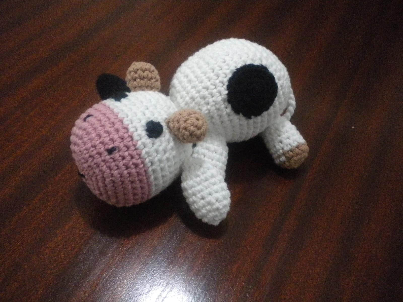 Amigurumi Vaca : Angeles tejidos amigurumi vaca