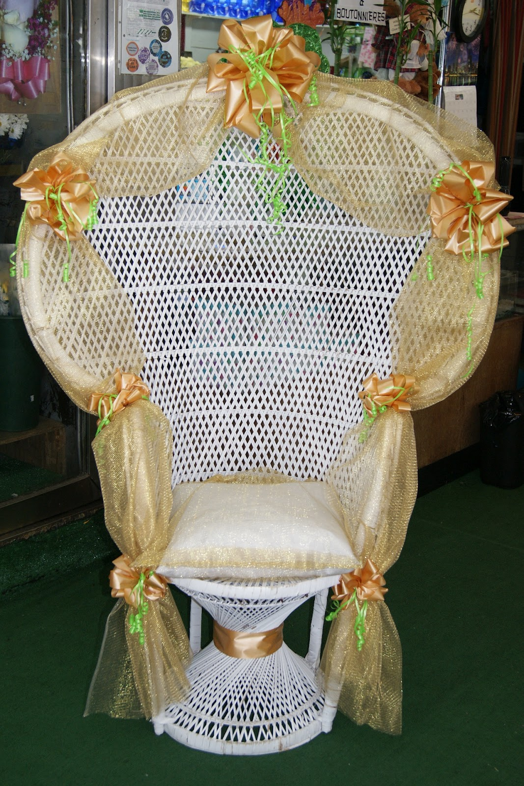 baby shower chair rental 75 with a 25 deposit which is returned