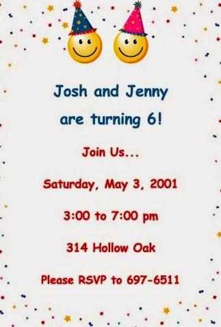 Contoh undangan ulang tahun dalam bahasa inggris yang menarik