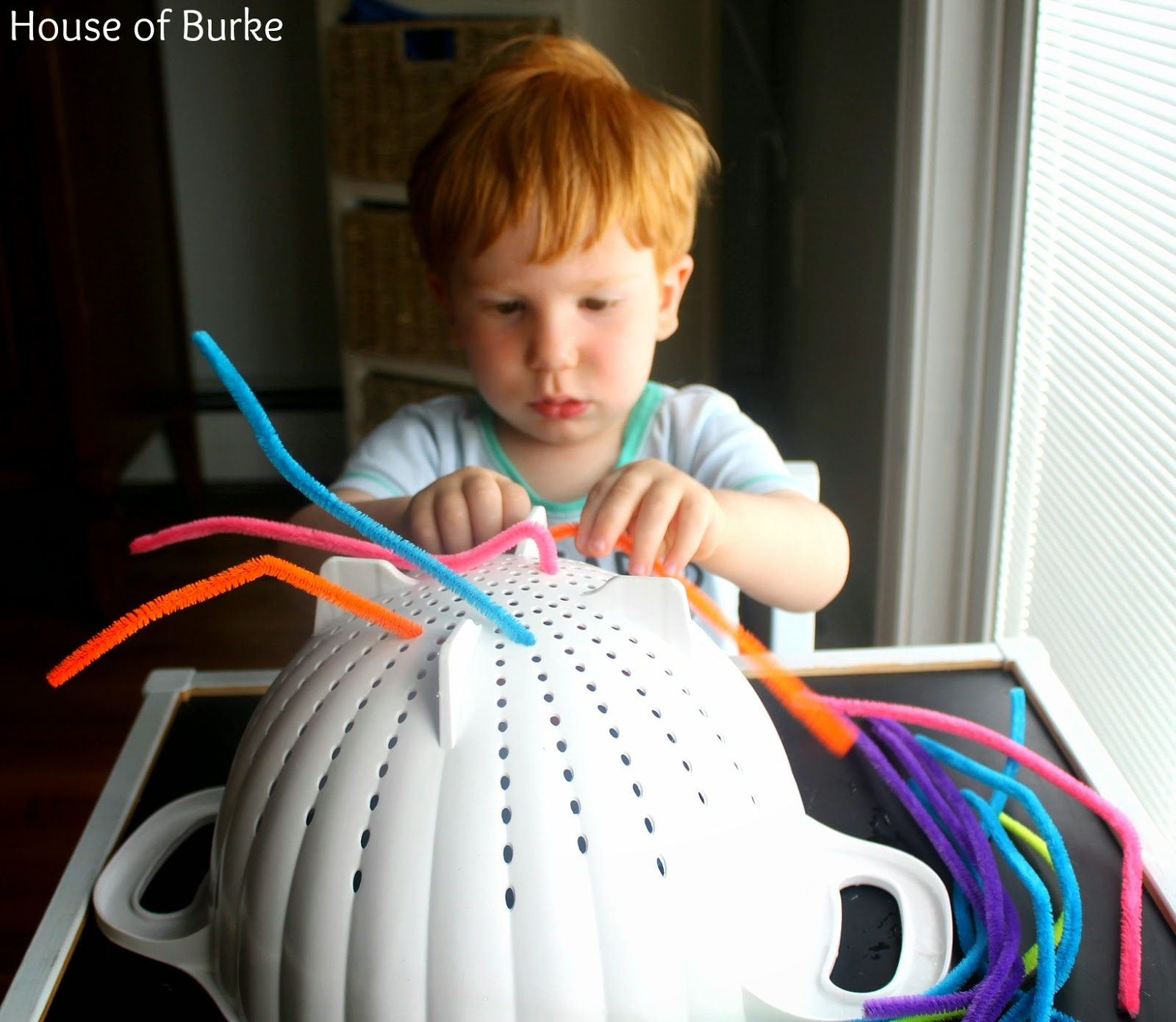 House of burke pipe cleaner fine motor activity for toddlers for Small motor activities for infants