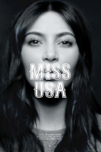 Karl Lagerfeld Shoots Kim Kardashian In CR Fashion