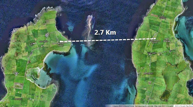 jarak penerbangan paling pendek didunia