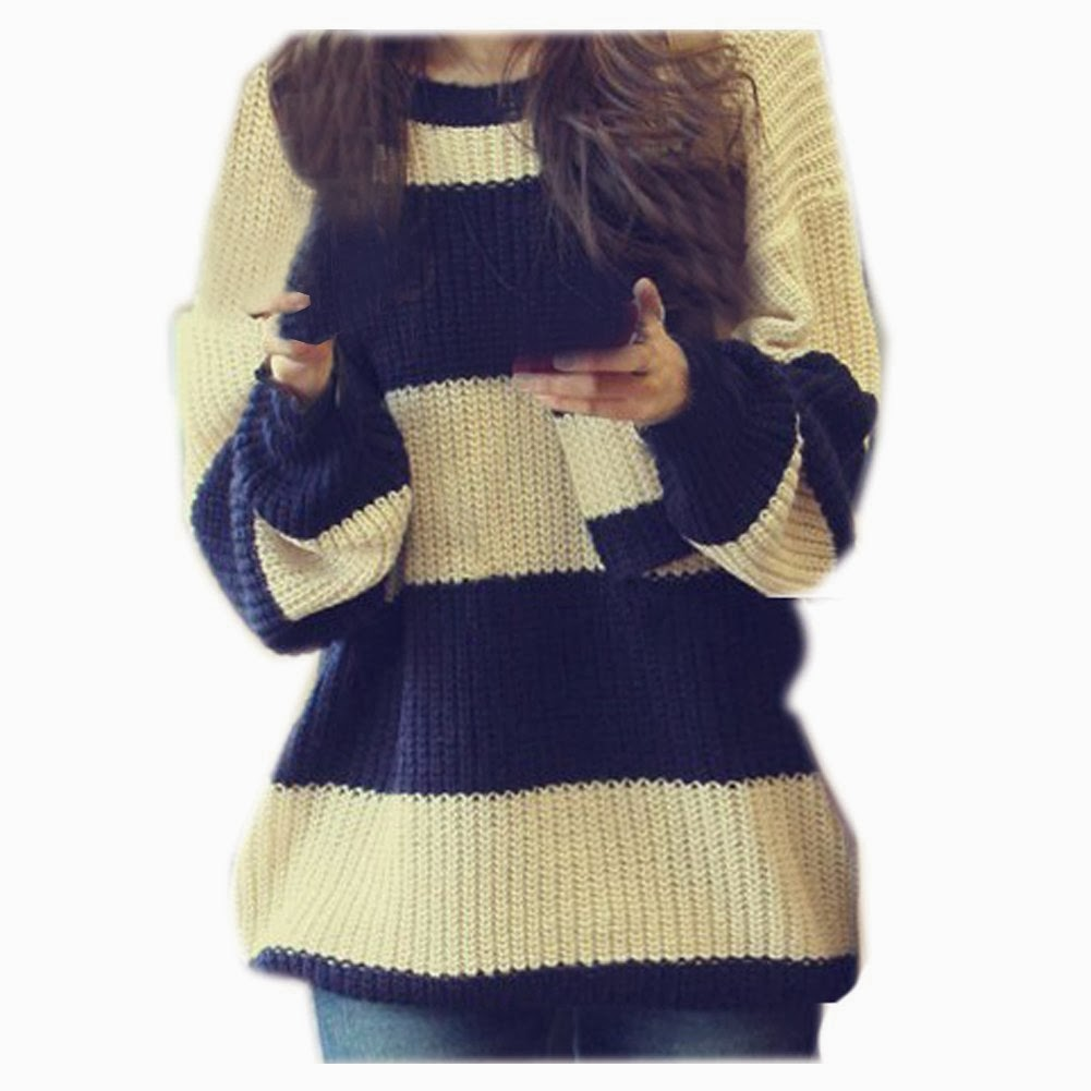Knitting Pattern Striped Sweater : Cute Sweater Korean 2014 Korean Hot Fashion Clothes And ...