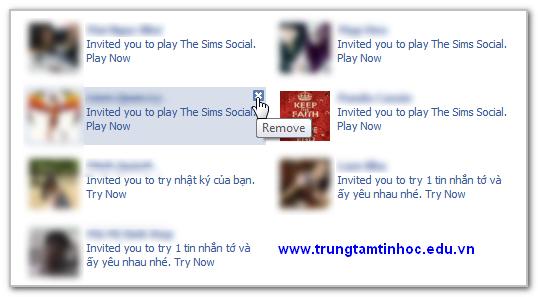 chặn những lời mời ứng dụng từ Facebook