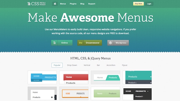 CSS Menu Maker