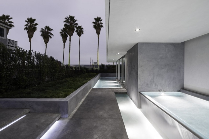 Walkways on Modern mansion on the beach by Dan Brunn
