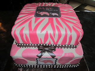 mymonicakes pink and brown safari baby shower cake