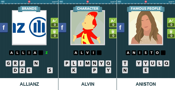 Icomania Level 11: cheats, hints, help, solutions and answers