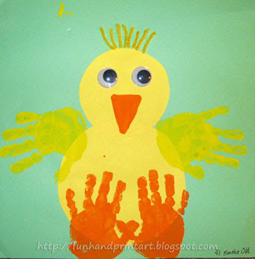Handprint Easter chick craft, Easter crafts, crafts