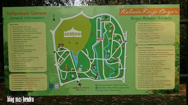 Peta dan Informasi Umum Kebun Raya Bogor - Blog Mas Hendra