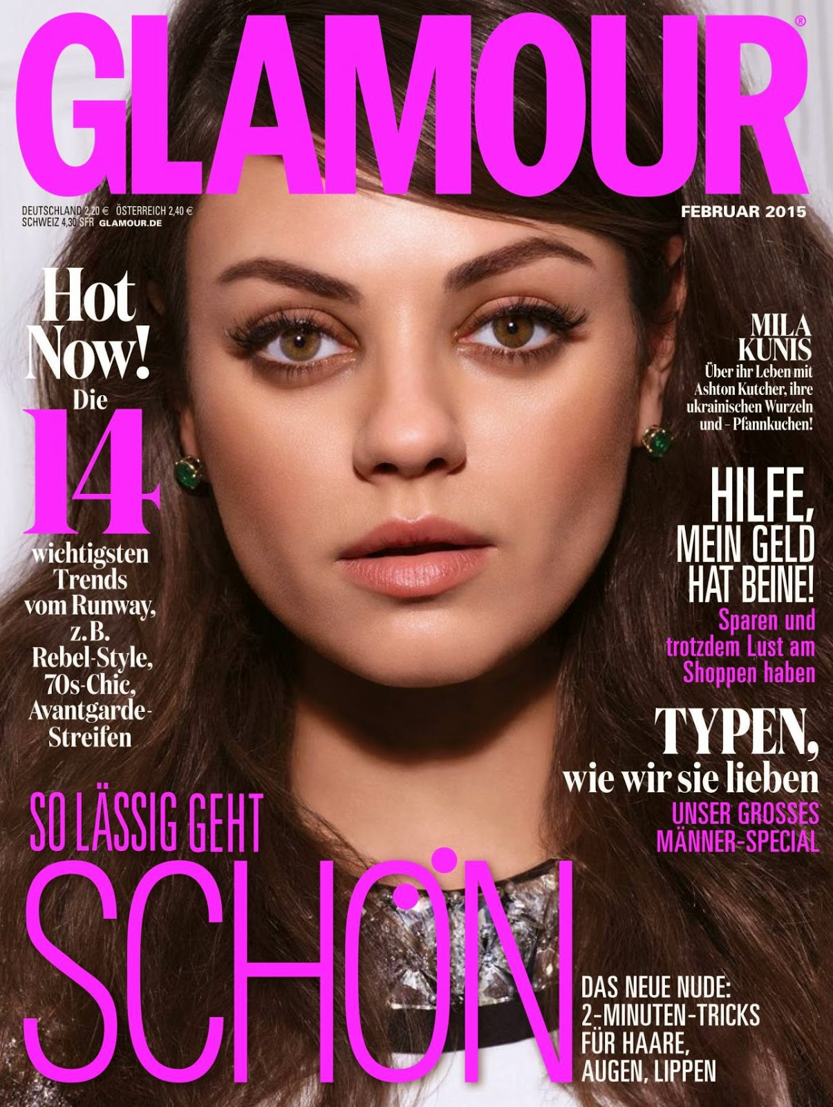 Mila Kunis - Glamour, Germany, February 2015