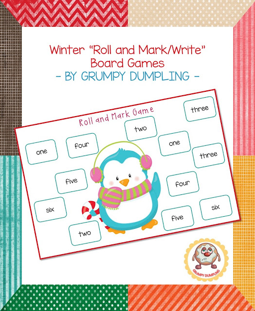 https://www.teacherspayteachers.com/Product/Winter-Roll-and-MarkWrite-Board-Games-2293708