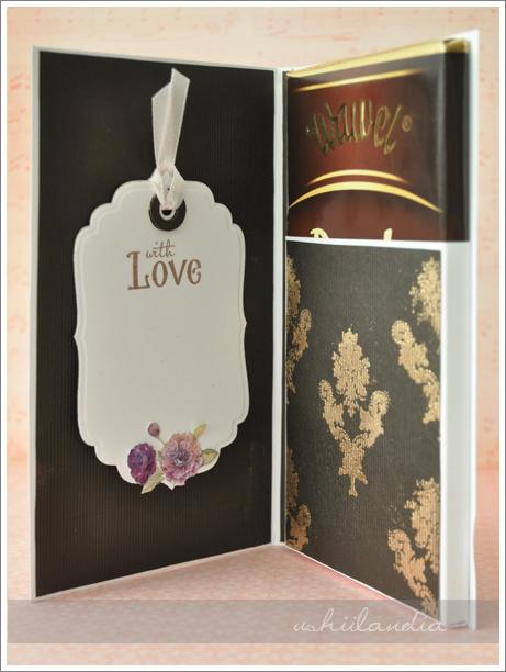 kartka z czekoladą (czekoladownik) - scrapbooking ushii