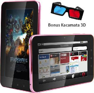 Tablet Pixcom Andro Tab Core 3D (4GB) Spesifikasi