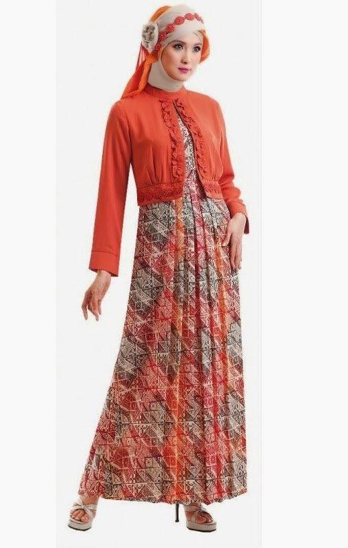 Model baju kain songket Model baju gamis batik muslimah terbaru