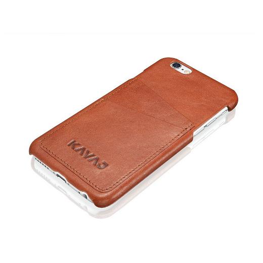 KAVAJ leather case back cover 'Tokyo' for the iPhone 6 4.7 inch cognac brown - image