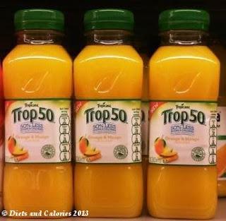 Tropicana Trop50 Fruit Juice bottles