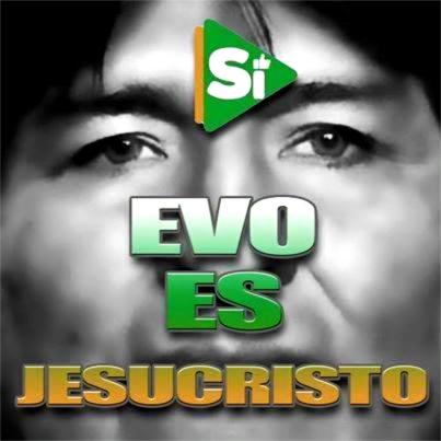 Meme blasfemo comparan a Evo Morales con Jesucristo