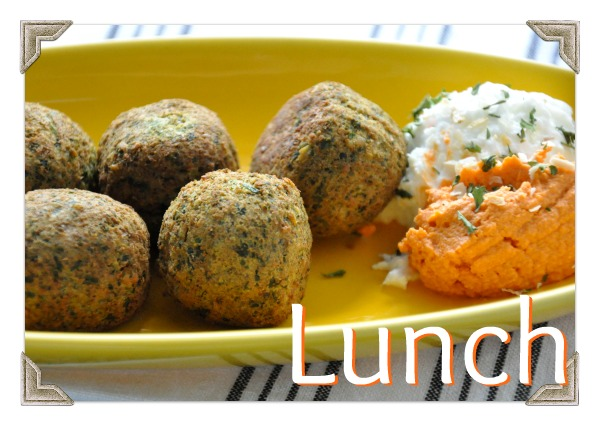 wiaw lunch veggie patch falafel hummus greek yogurt