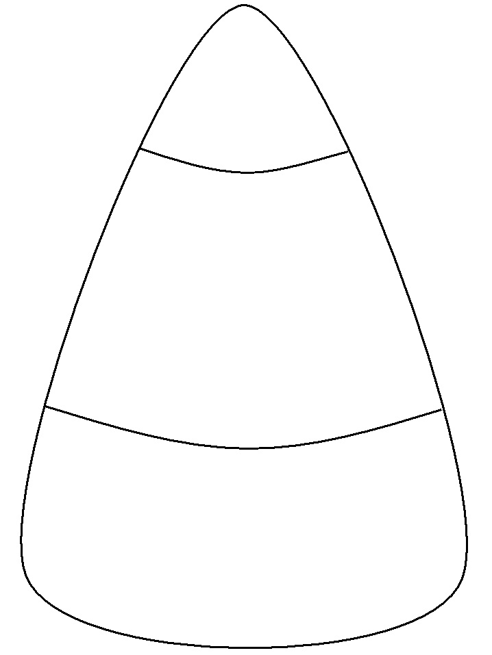candy corn coloring pages - photo#1