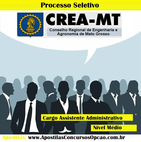 Apostila Processo Seletivo Crea-MT - Assistente Administrativo - 2014.