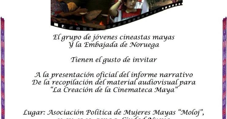 """Invitación - presentación """"La creación de la cinemateca Maya"""""""