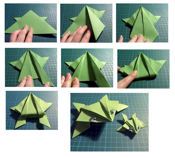 Spring Peeper Frogs Origami Frog Instructions For Kids Animated