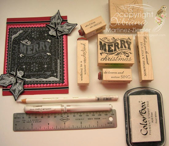 supplies for chalkboard card