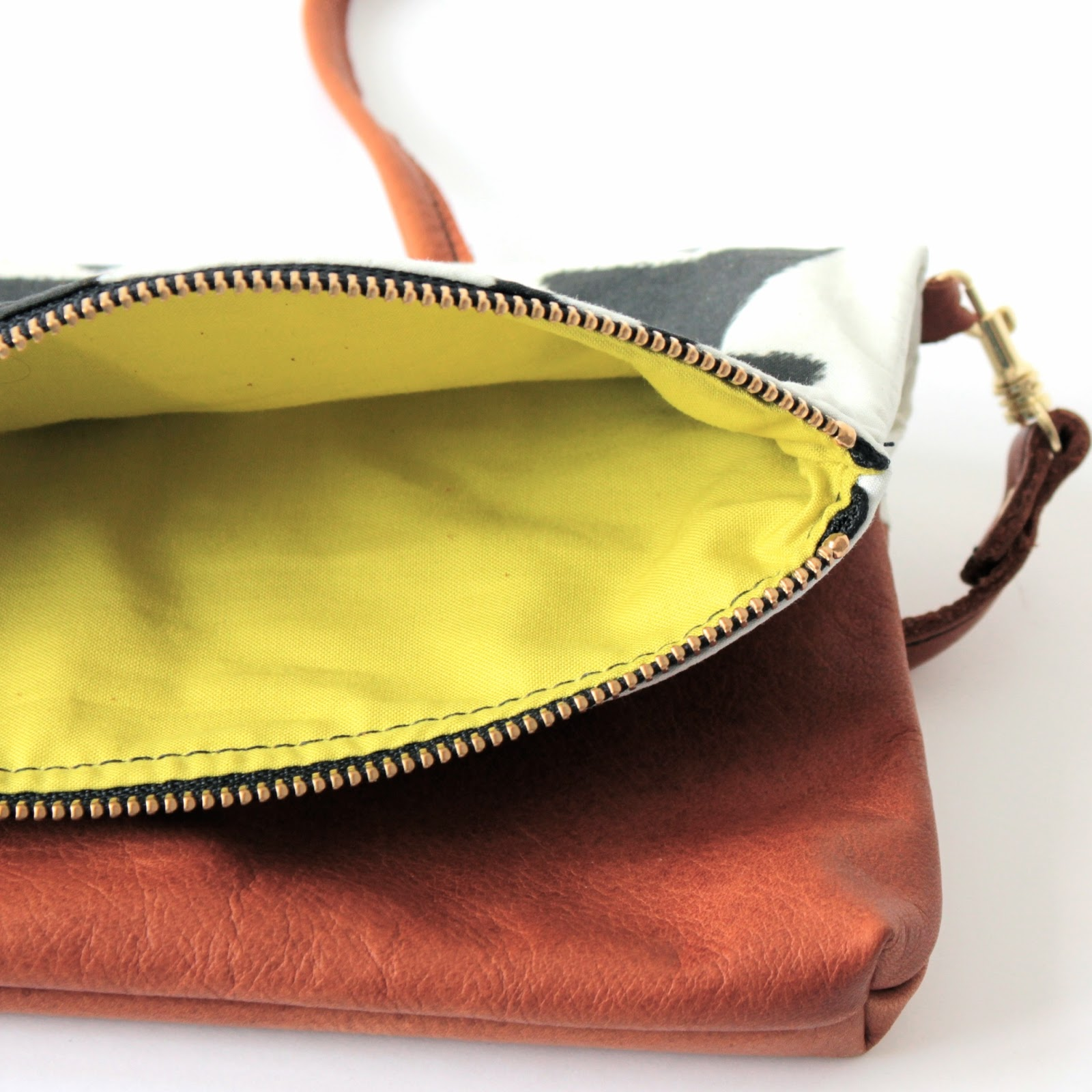 Antelope Shop Anneb designs Aspen Folded Clutch Citrine Lining Boheme Leather bag antelopeshop.com Lexie Blush
