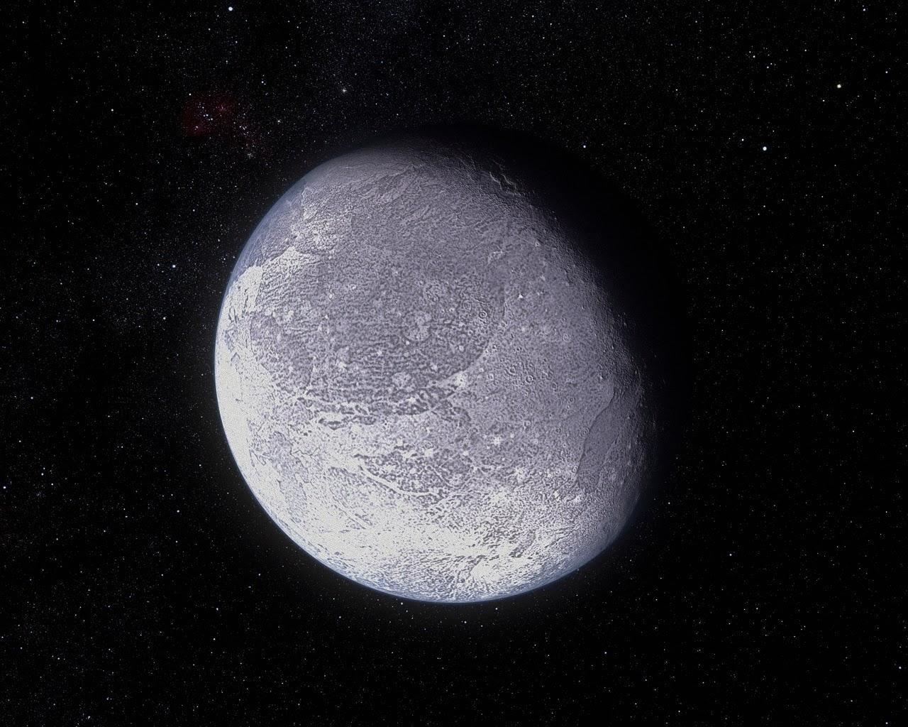 Representación artística de Plutón