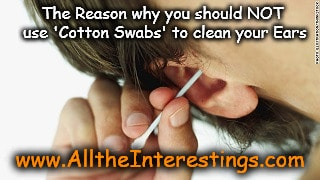 You should know the reason why you should NOT use cotton swabs/buds to clean your ears, cleaning ears, Tips to clean ear, Health tips, Ear care, Using cotton buds to clean earwax