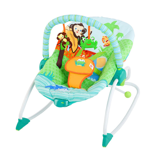 rocker, bouncy seat, toy bar, baby seat, toddler chair