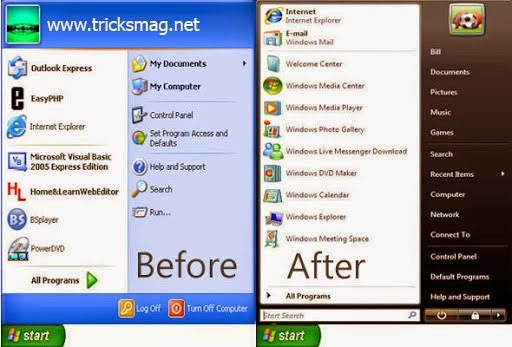 how to change start up in vista
