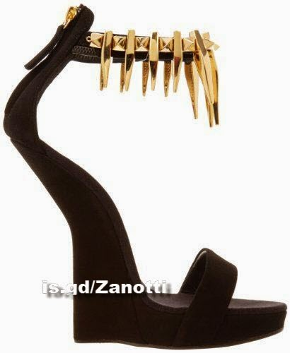Giuseppe Zanotti Women's Decorative Ankle Strap Wedge Sandal