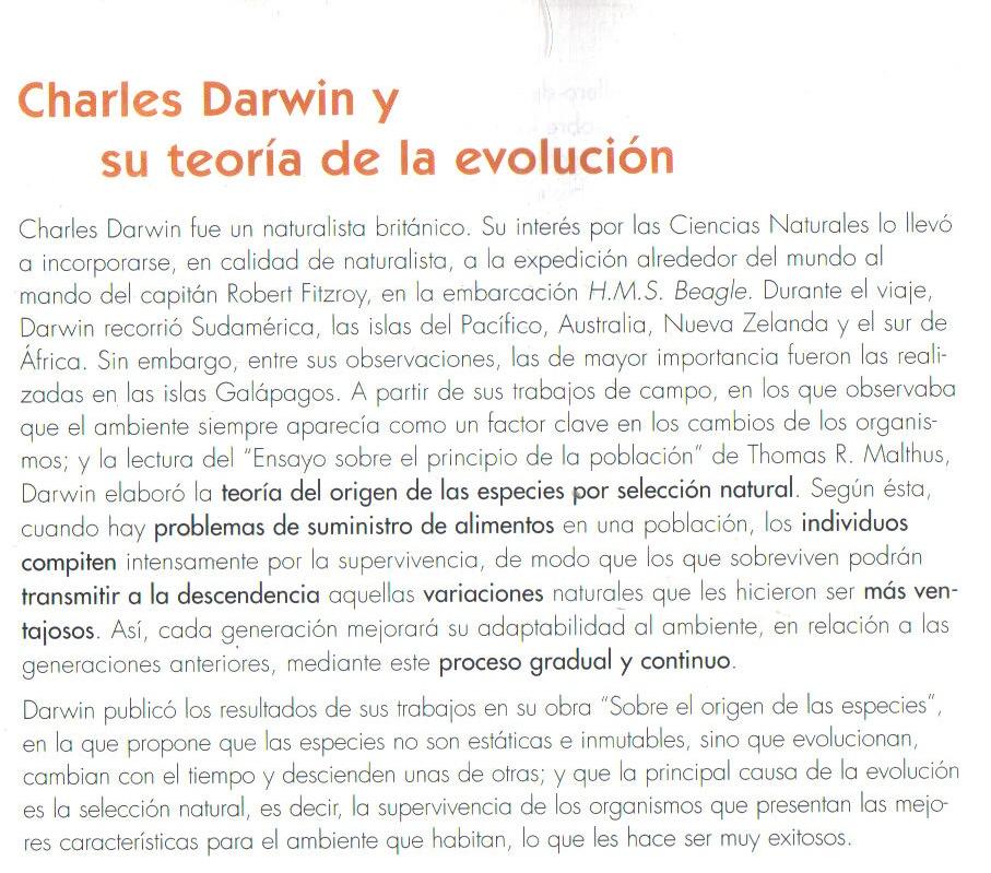 charles darwin y su teor 237 a de la evoluci 243 n teor 237 a de la