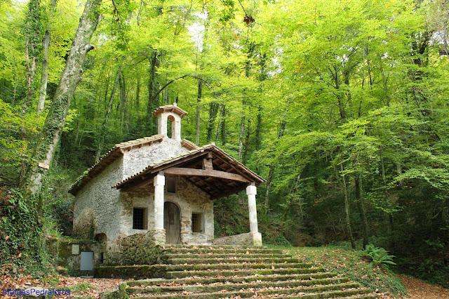 Sant Marti del Corb a la tardor fageda Garrotxa