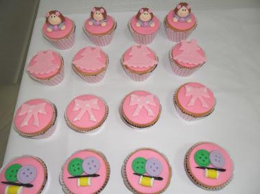 Cupcake para festa da boneca de pano