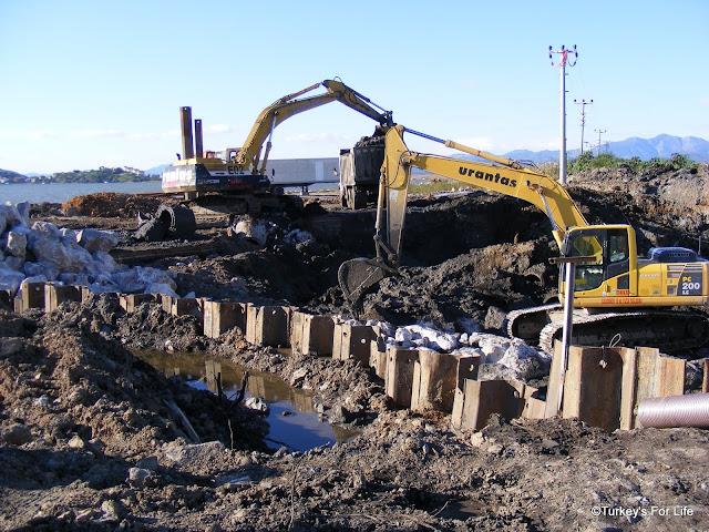 New Harbour Construction Work, Fethiye To Çalış