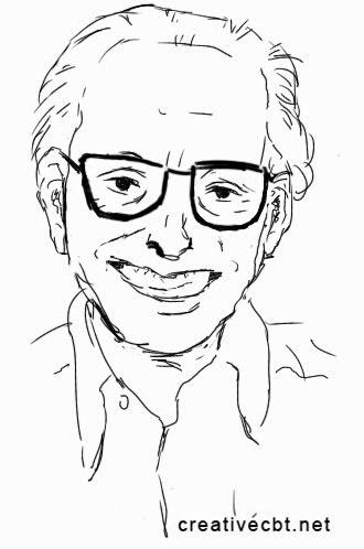 Albert Ellis Sketch - younger