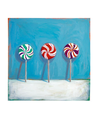 lollipop painting original still life junk food art by jeanne vadeboncoeur