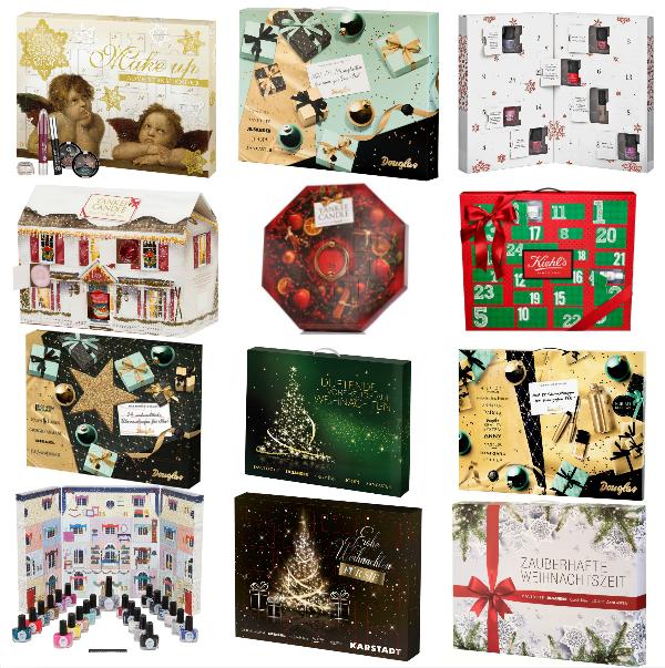 Beauty Adventskalender 2014 - Liste aller erhältlichen Kalender