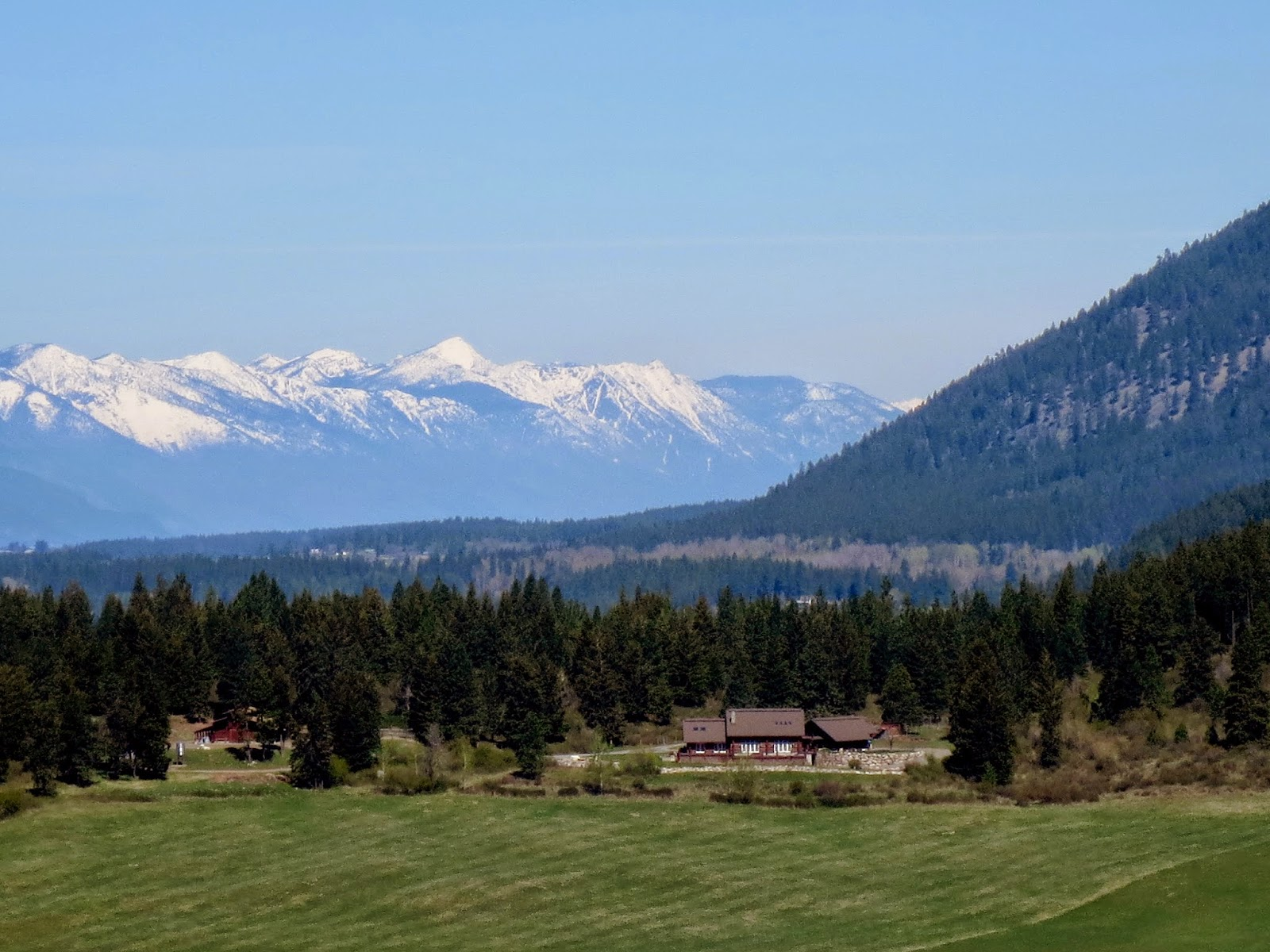 Selkirt Mountains and Percell's Trench in North Idaho