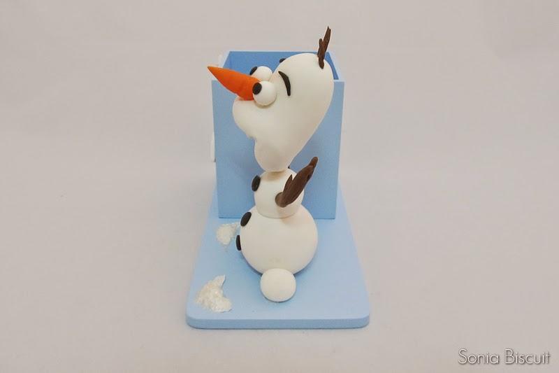 Porta Lápis Biscuit Lembrancinha Olaf Frozen