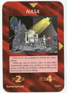 Illuminati Game Card - Moon Landing Hoax