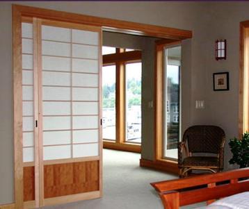 puertas correderas estilo oriental paneles shoji biombos molduras pisos de madera puertas de madera
