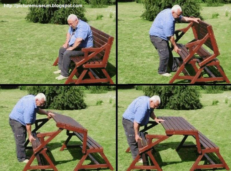 Amazing Folding Picnic Table u0026 Bench! : Picture Gallery
