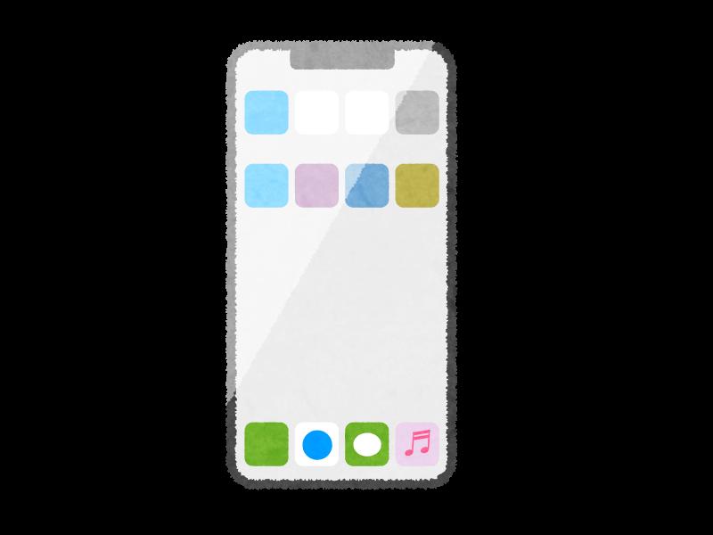 iPhone Xのイラスト