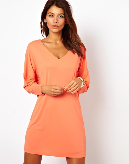 crepe v-neck dress